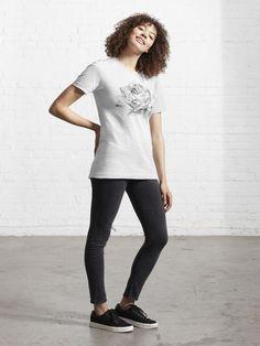 """Black and white rose"" T-shirt by augustinet | Redbubble Judo, T Shirt Citations, Future Maman, Vintage Black, Tshirt Colors, Female Models, Chiffon Tops, Funny Tshirts, Heather Grey"