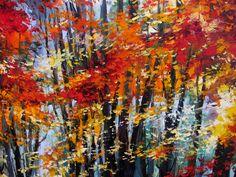 'Autumn Walk' by Gleb Goloubetski  Oil on Canvas  120cm x 120cm