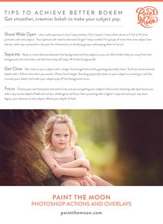 How to Achieve Blurred Backgrounds   Photoshop Actions