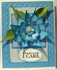 Stampin' Up!  Bird Punch  Maria Vanderform  Blue Flower by lorie. This could make a nice pontsettia