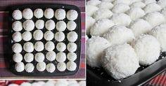 Jemné tvarohové kuličky, které jsou slazené pouze medem a přesto jsou vynikající. Skvělé, nepečené a prakticky dietní cukroví. Ingredience 200 g tvarohu 1 lžíce medu 200 g strouhaného kokosu 30 mandlí Postup Rozmíchejte tvaroh společně s medem. Ze vzniklé hmoty tvarujte kuličky, do kterých vložte madli a obalte v kokosu. Skladujte v chladu. Zdroj: vk.com Cheesecake, Good Food, Sweets, Dishes, Muffin, Baking, Search, Cheesecake Cake, Sweet Pastries
