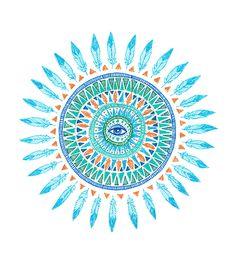 ☮ American Hippie Psychedelic Art ~ Eye Mandala