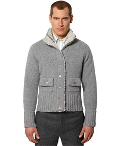 Brooks Brothers - Cardigan with Shearling Inset