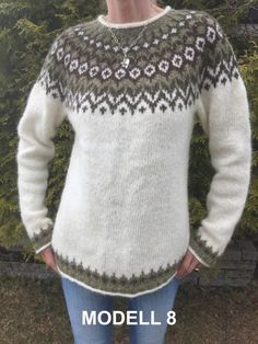 Nordic Pullover, Nordic Sweater, Sweater Knitting Patterns, Free Knitting, Crochet Patterns, Pet Clothes, Barn, Wool, Chic