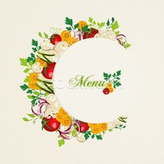 меню · иллюстрация · здорового · овощей · продовольствие - Векторная графика © Cienpies Design (cienpies) (#4797931) | Stockfresh