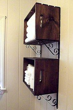 caixotes porta toalhas