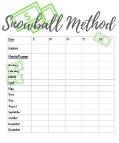 Free Printable Debt Snowball Worksheet- Pay Down Your Debt! | Debt ...
