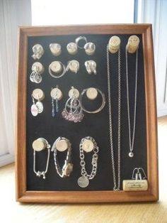 Jewelry holder from wine cork