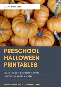 Learning the preschool basics is so much more fun with these downloadable Halloween preschool printables! This tool is the perfect addition to your arsenal. #preschool #printables #homeschool #halloweenunit #learningthroughplay #earlyeducation www.notquitesupermom.com