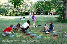Lawn Twister – fun for Labor Day picnic! - DIY Show Off Outdoor Twister, Outdoor Fun, Twister Game, Outdoor Games, Diy Games, Party Games, Party Party, Bias Tape, Games