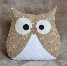Baby Sewing Projects, Sewing For Kids, Owl Crafts, Diy And Crafts, Sewing Toys, Sewing Crafts, Owl Sewing Patterns, Owl Pillow, Cute Pillows
