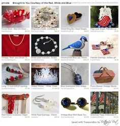 Brought to You Courtesy of the Red, White and Blue by Laurie and Joe BoardArtistry on etsy