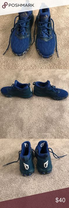 Adidas basketball shoes Royal blue, barely worn basketball shoes adidas Shoes Athletic Shoes