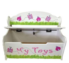Spring Design Toy Box And Deacons Bench