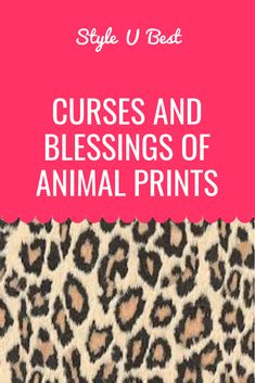 Animal prints have always gathered a lot of attention. They tend to display freedom, courage and adventure. And these seem to be the main reasons why animal prints have been so trendy for last several years.   #animalprint  #leopardprint