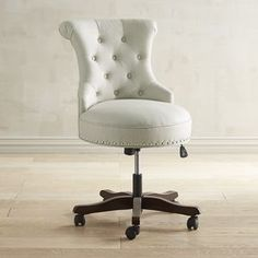 Hourglass Flax Swivel Office Chair | Pier 1 Imports