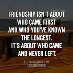 Friendship isn't about who came first and who you've known the longest. It's…