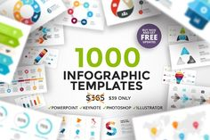 It is the biggest Infographics Bundle on the internet with 1000 infographic templates. Great for BLOGGERS. #sponsored $39