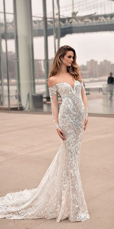 15 Amazing Sweetheart Wedding Dresses You Must See ❤ lace mermaid off the shoulder sweetheart wedding dresses with long sleeves berta bridal Full gallery: https://weddingdressesguide.com/sweetheart-wedding-dresses/