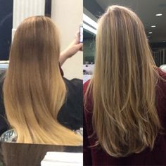 Hair color fix before and after cut color pinterest hair before and after highlighted blonde hair pmusecretfo Images