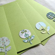 Stiched note cards.