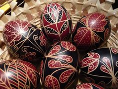 Some more easter eggs from Hungary. Egg Shell Art, Easter Egg Designs, Ukrainian Easter Eggs, Easter Traditions, Egg Crafts, Faberge Eggs, Picture Postcards, Egg Art, Easter Holidays