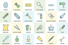 100+ Hair Salon or Barber Icons Set by Vectors Market on @creativemarket