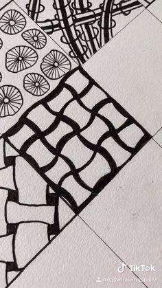 Easy Doodles Drawings, Easy Doodle Art, Doodle Art Designs, Doodle Art Drawing, Zentangle Drawings, Art Drawings Sketches Simple, Good Easy Drawings, Easy Doodles To Draw, Zentangle Art Ideas