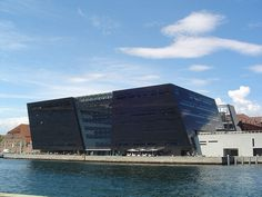 The Black Diamond (Royal Danish Library) - Copenhagen, Denmark. One of the neatest designs of newer architecture I've seen.