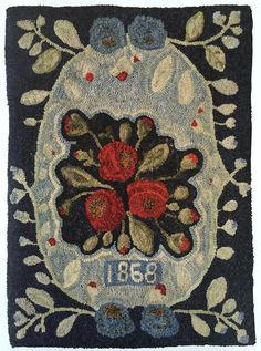 Hooked Rug - Minick & Simpson: Our House In Nantes Vintage Hooks, Rug Hooking Patterns, Rug Patterns, Rug Inspiration, Hand Hooked Rugs, Textiles, Penny Rugs, Traditional Rugs, Nantes