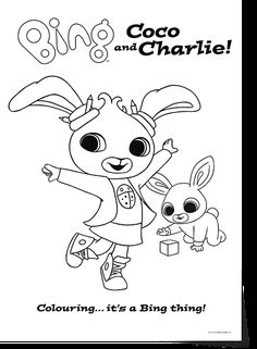 Bing Lineart Coco Charlie Kids ColouringColouring SheetsBing