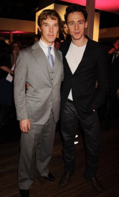 Tom & Benedict Cumberbatch- just toss an Elba in there and I'm in heaven!