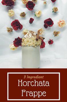 3 ingredient horchata frappe!