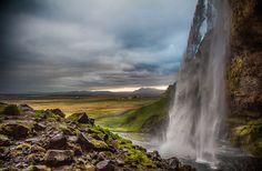 Seljalandsfoss waterfall in Iceland by DagurJonsson. @go4fotos