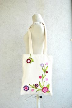 #Purse #Zippered #Bag #Tote Shoulder handles with by KatiaFabricStudio