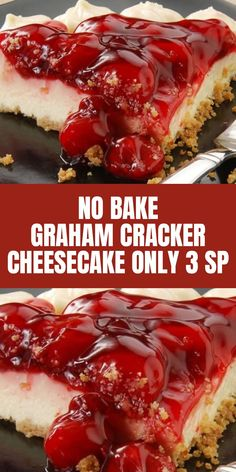 No Bake Graham Cracker Cheesecake ONLY 3 SP