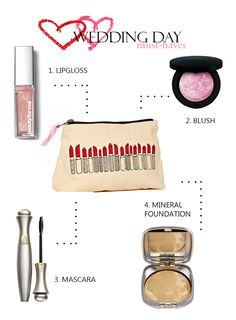Wedding Essentials. Everything you need for your big day from @Gloss48 - a new source for awesome indie beauty