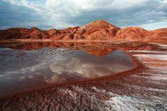 Colorful Mountains, Tabriz, East Azerbaijan Province, Iran (Persian: کوههای رنگی در نزدیکی تبریز, استان آذربایجان شرقی) Photo by Ali Shakori