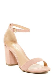 135eb64b7ba8 Antonio Melani Lynnette Leather Ankle Strap and Buckle Wedges ...