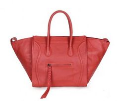 3d0a1aa3c6 Celine Small Red Smooth Leather Phantom Luggage Boston Bags is as luxurious  as it is practical