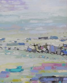 White Sea Tide  canvas original painting wall hanging fine