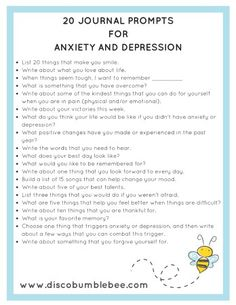 journal prompts for anxiety and depression Therapy Tools, Art Therapy, Therapy Journal, Mental Health Therapy, Mental Health Counseling, School Counseling, Therapy Ideas, Journaling For Anxiety, Journaling For Depression