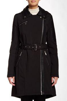 Asymmetrical Belted Coat  Sponsored by Nordstrom Rack.