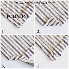 Easy Tea Towel Tutorial {Sewing Mitered Corners} Ann is great! | step by step directions! | onsuttonplace.com