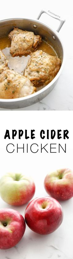 Make the most out of Fall with this Apple Cider Chicken recipe. It's the best dinner to make for autumn! via Make the most out of Fall with this Apple Cider Chicken recipe. It's the best dinner to make for autumn! Duck Recipes, Apple Recipes, Turkey Recipes, Meat Recipes, Fall Recipes, Dinner Recipes, Turkey Dishes, Cookbook Recipes, Cocktail Recipes