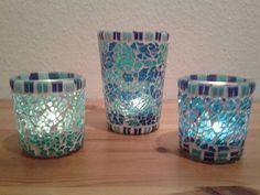 Teelichter aus Crackle Mosaik