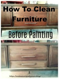 How to clean your furniture before you paint! Easy tutorial and video. Recycling Furniture, Repurposed Furniture, Vintage Furniture, Chalk Paint Furniture, Furniture Redo, How Do You Clean, How To Clean Furniture, Walls, Diy Projects