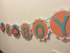 Nemo baby shower banner by Fancymycupcake on Etsy