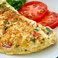 Mediterranean Omelette - A great option for a breakfast! Omelette made with the goodness of spinach, onions, olives and oregano. Healthy Omelette, Breakfast Omelette, Breakfast Recipes, Breakfast Ideas, Veggie Omelette, Indian Breakfast, Indian Food Recipes, New Recipes, Ethnic Recipes