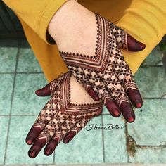 Just Browse here and see the Latest Ideas & Designs of Mehndi to make your hand and finger more beautiful. Henna Hand Designs, Dulhan Mehndi Designs, Mehndi Designs Finger, Indian Henna Designs, Latest Bridal Mehndi Designs, Stylish Mehndi Designs, Mehndi Designs For Beginners, Mehndi Designs For Girls, Mehndi Design Photos